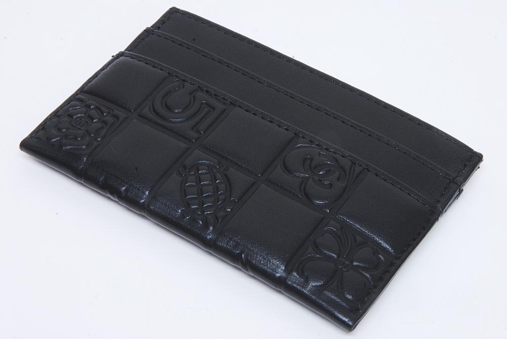8ff628f790ee シャネル アイコン ココマーク カードケース パスケース ブラック 【正規品】