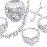 大粒ダイヤモンドはもちろん、他店で評価されにくいパヴェダイヤやメレダイヤのデザインジュエリーも高価買取致します。