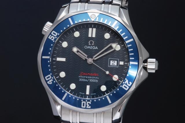 quality design e51fb f7259 オメガ 2221.80 シーマスター 300M メンズ クォーツ 青