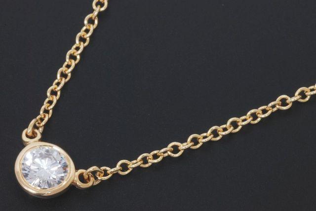 size 40 c533e 0c208 ティファニー ダイヤモンド バイザヤード ペンダント ネックレス ...