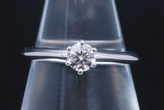 on sale 5a20d a2288 ティファニー ソリティア ダイヤモンド リング PT950 プラチナ ...