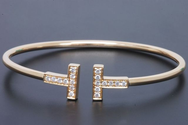 buy popular a6fca 085b3 ティファニー Tワイヤー ダイヤモンド ブレスレット K18YG ...