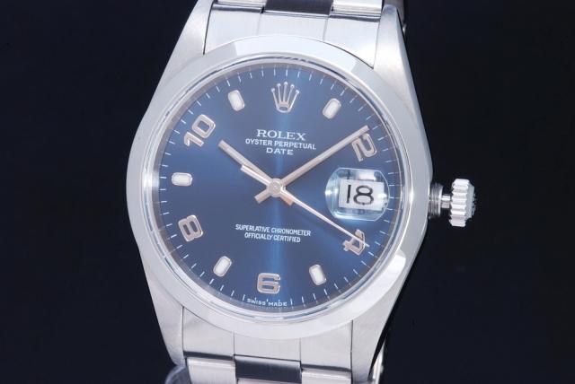 new styles d7228 9eb09 ロレックス 15200 オイスターパーペチュアルデイト ブルー ...