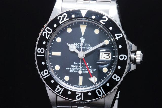 brand new 49aff 0d005 ロレックス GMTマスター 1675 ティファニーWネーム【日ロレOH】