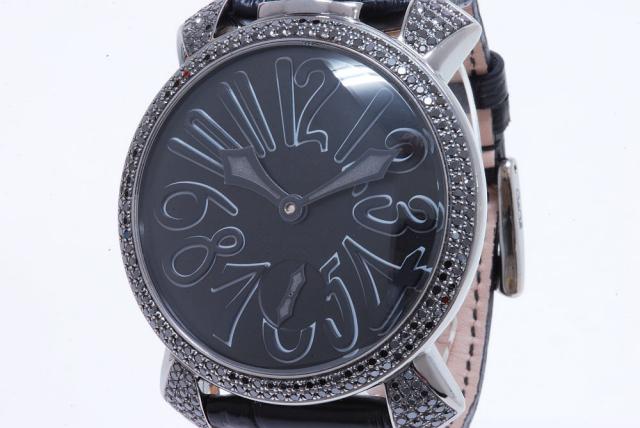 buy popular d82f8 6d0bd ガガミラノ マヌアーレ ブラックダイヤ PVD 5012.2D【正規】
