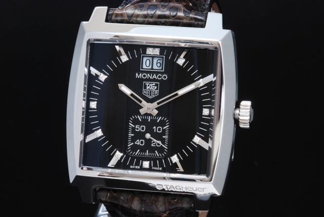 new product 33490 e60ae タグホイヤー モナコ グランドデイト ダイヤモンド WAW1310